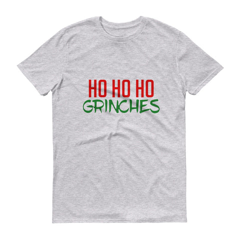 Ho Ho Ho Grinches- men's Short-Sleeve T-Shirt