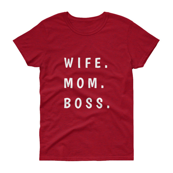 Wife Mom Boss - Women's short sleeve t-shirt