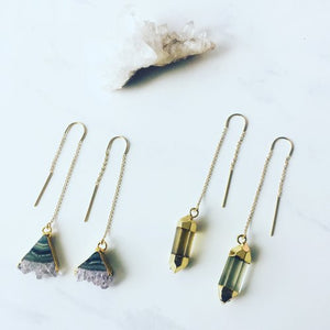 PRISMS: Crystal Thread Earrings