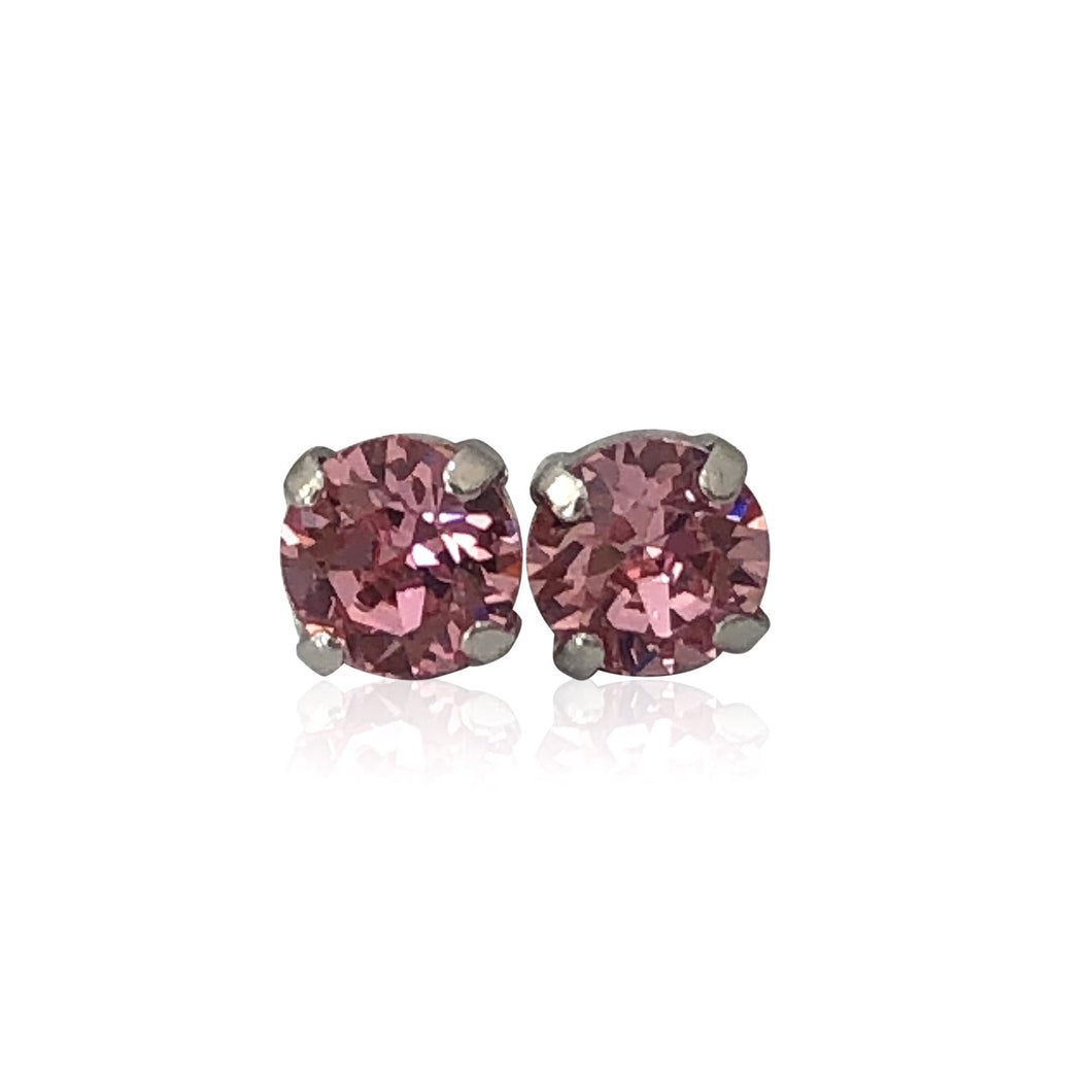 Banoo Pink Swarovski Earrings - Payvand