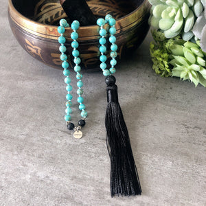 Tranquil Mala - Blue Howlite - Payvand