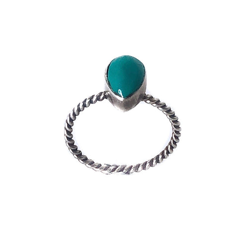 Blue Apatite Sterling Silver Ring - Payvand