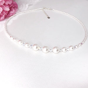Swarovski White Pearl Necklace NWP1 - Payvand