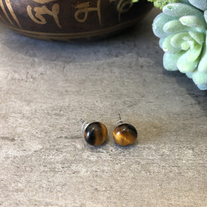 Tigereye Large Stud Earrings