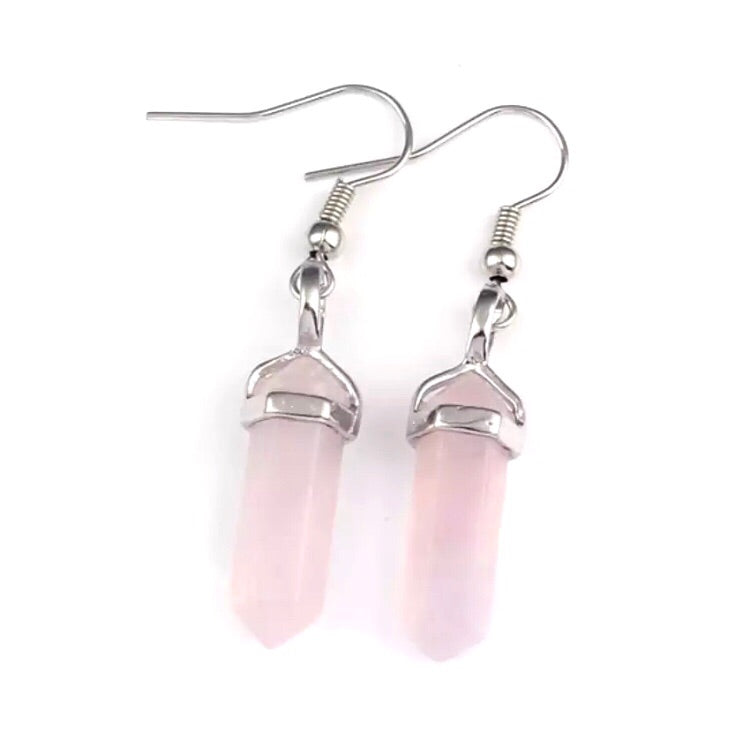 Rose Quartz Earrings - Payvand