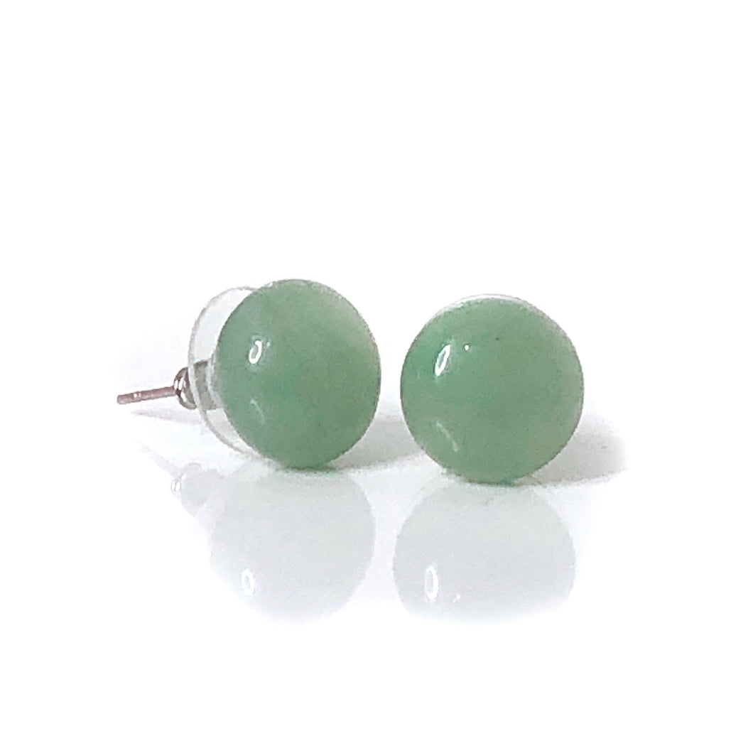 Green Aventurine Large Stud Earrings - Payvand