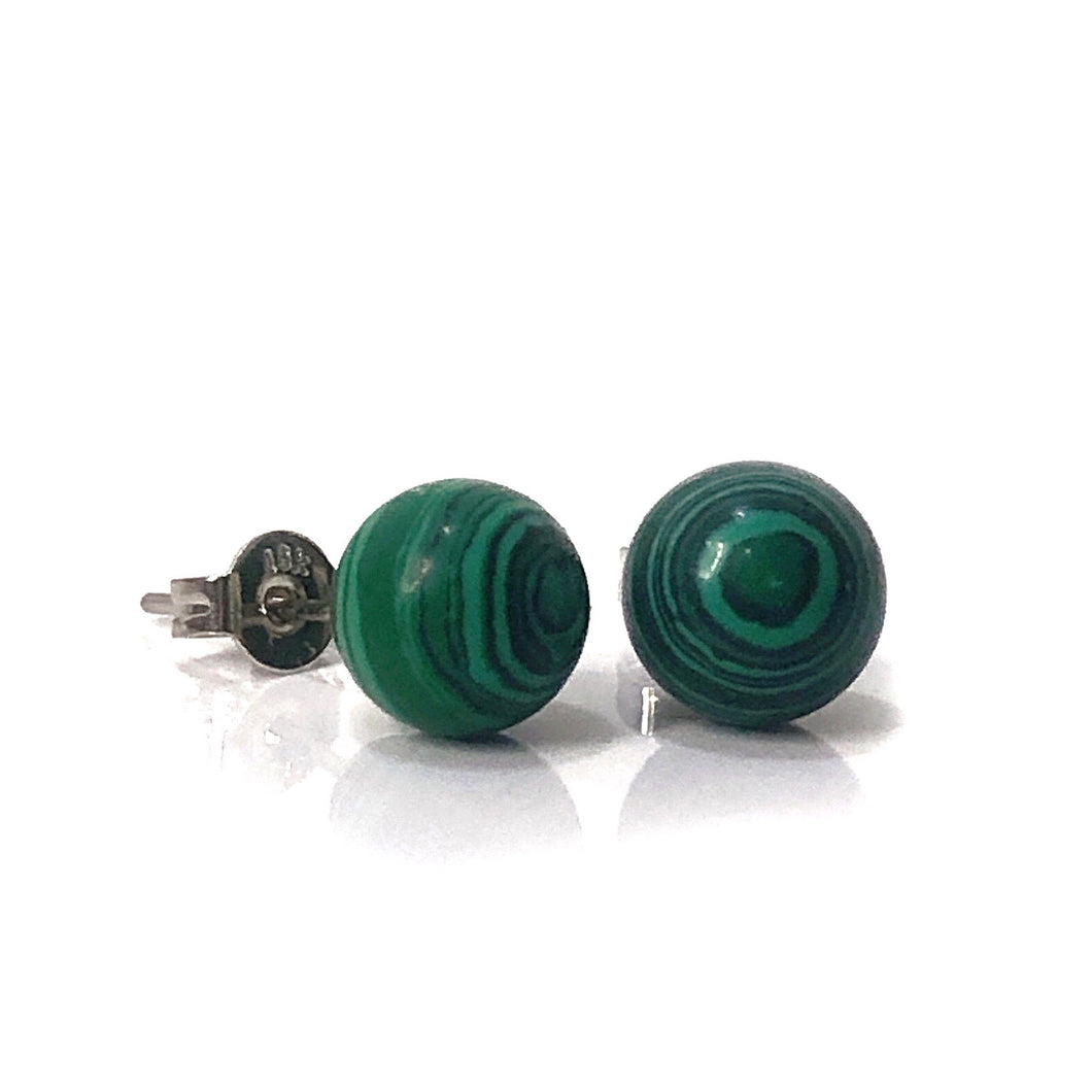 Malachite Stud Earrings - Payvand
