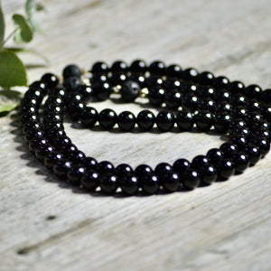 Protection Mala necklace - Black Onyx - Payvand