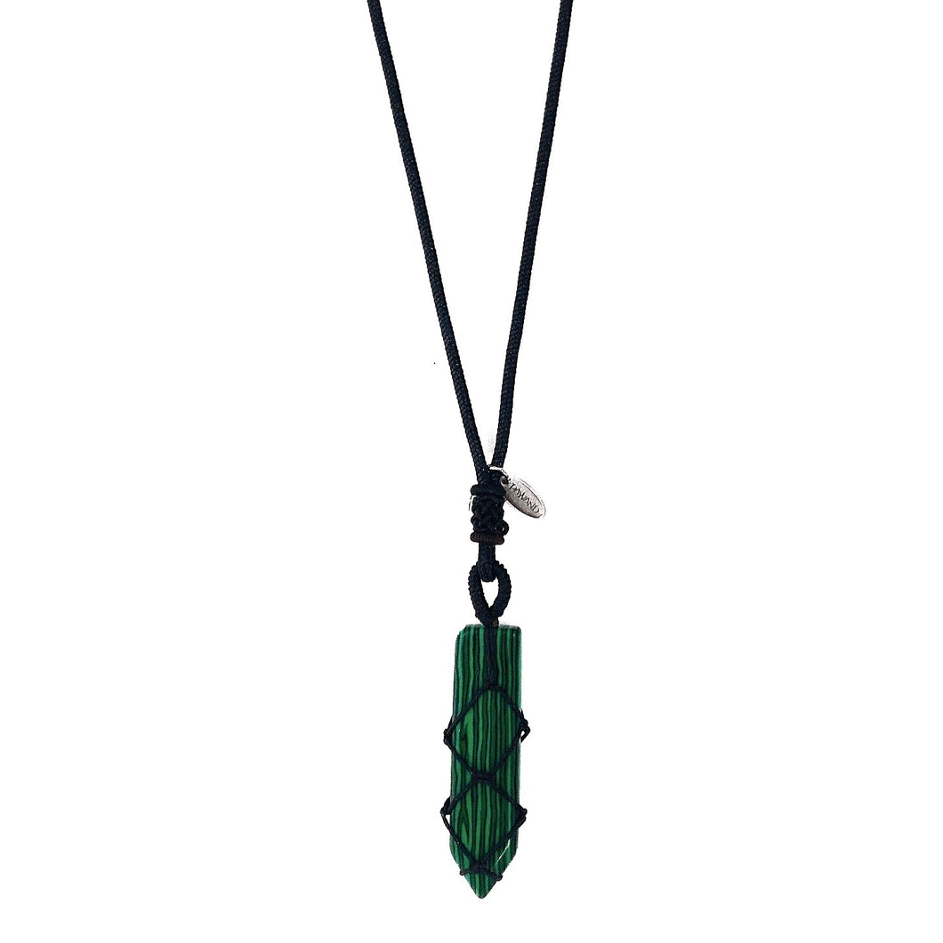 Macrame Malachite Necklace
