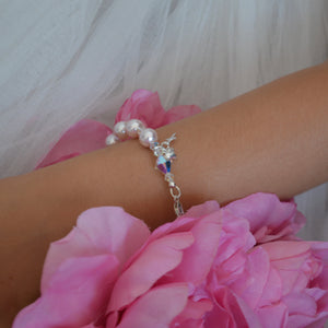One Decade Rosary Pink Pearl Bracelet - Payvand