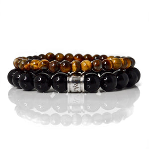 Black Onyx & Tiger Eye Set - Payvand