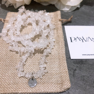 Clear Quartz Chip Necklace - Payvand