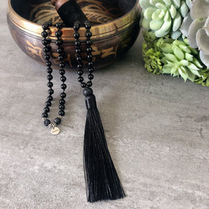 Strength And Protection Mala - Black Onyx