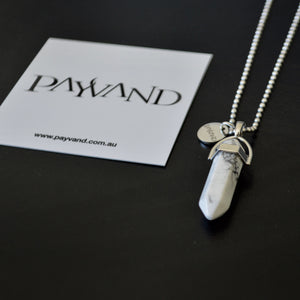 White Howlite Necklace - Payvand