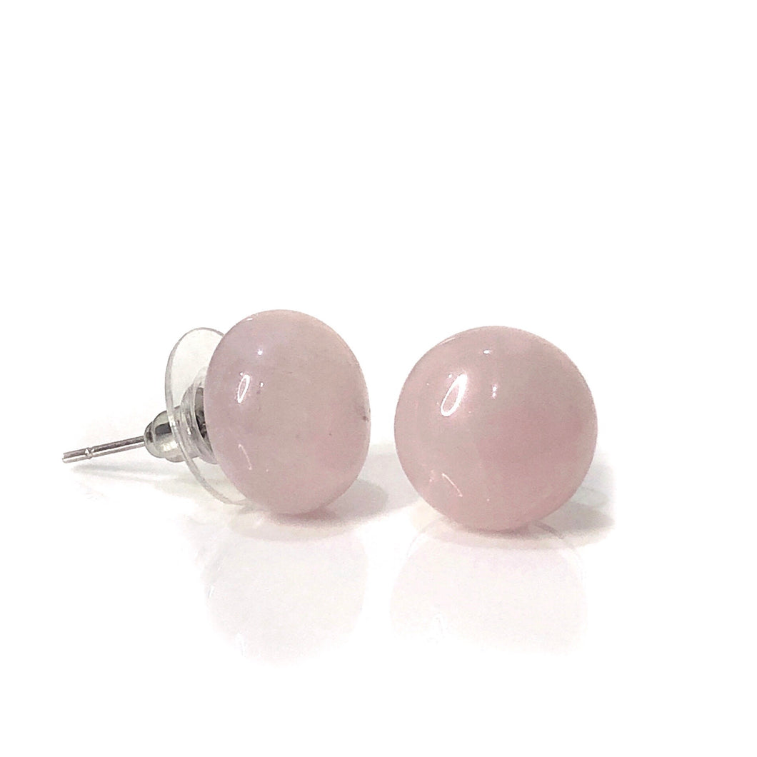 Rose Quartz Large Stud Earrings - Payvand