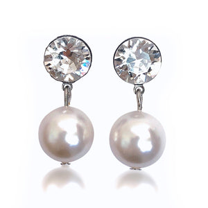 Farah White Swarovski Earrings - Payvand