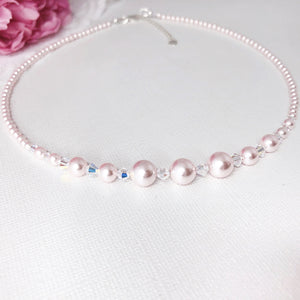 Swarovski Pink Pearl Necklace NPP1 - Payvand