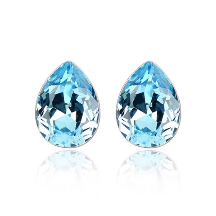 Something Blue Swarovski Earrings - Payvand