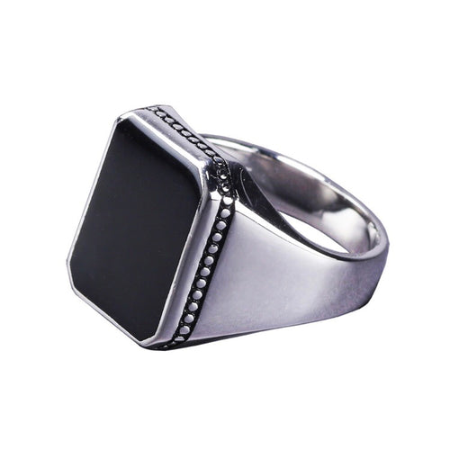 Black Onyx Ahurani Sterling Silver Ring - Payvand