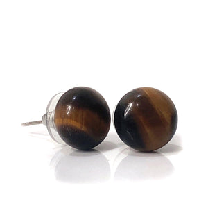 Tigereye Large Stud Earrings - Payvand