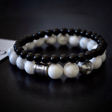 White Howlite & Black Onyx Set - Payvand