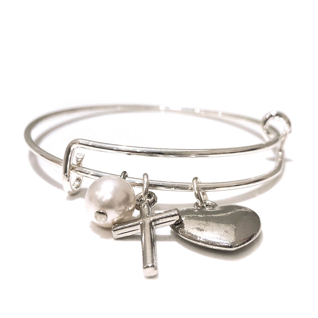 Adjustable Bangle With Cross - Payvand