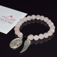Rose Quartz Angel Wing Bracelet - Payvand