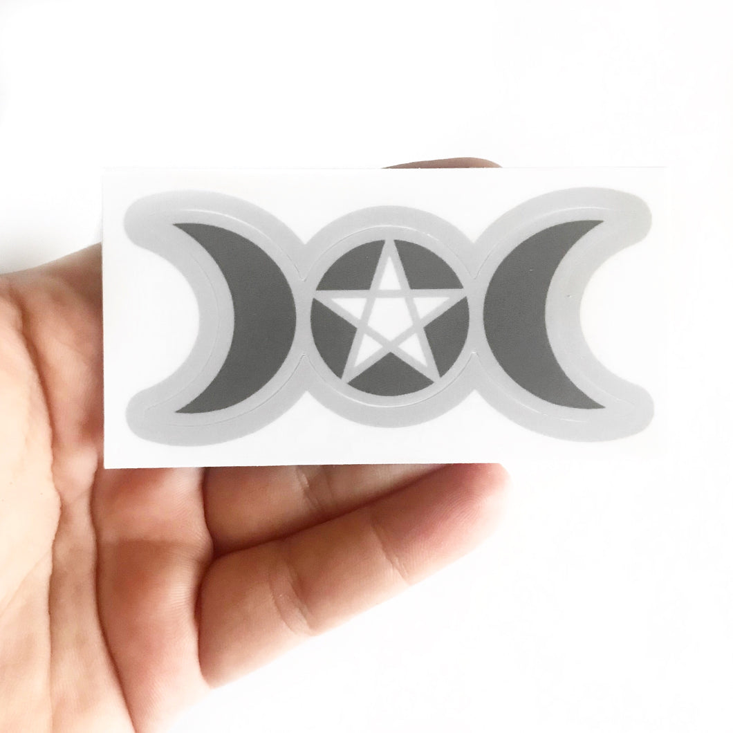 Triple Moon Sticker