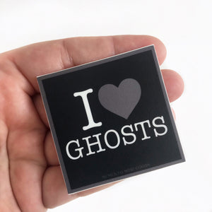 I Heart Ghosts Sticker