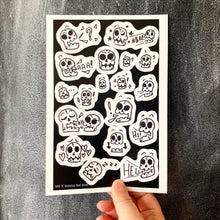 Skull Sticker Sheet