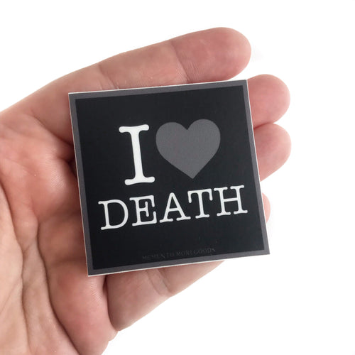 I Heart Death Sticker