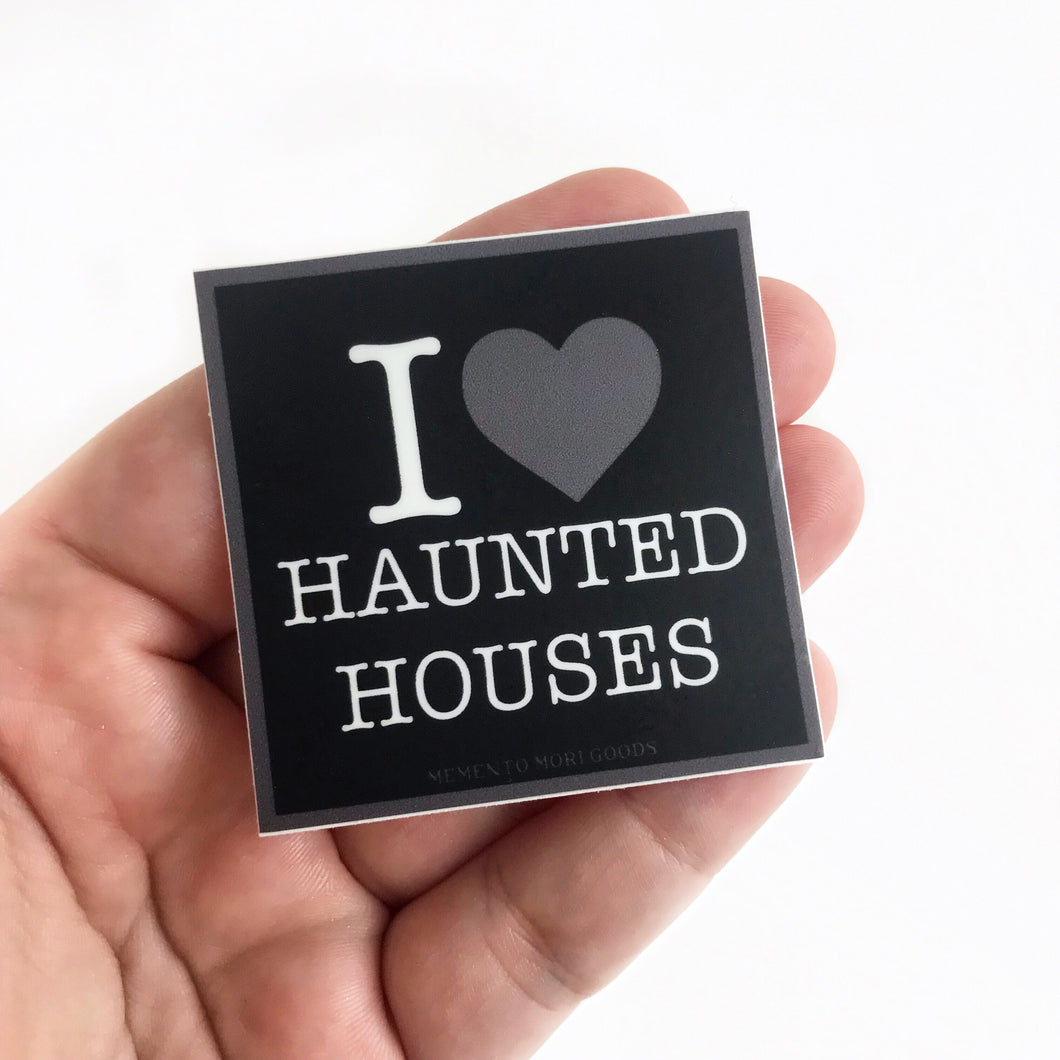 I Heart Haunted Houses Sticker