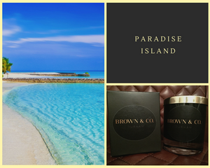 """Paradise Island"" soy wax candle - Brown and Co. Durham"