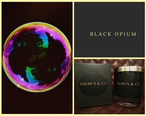 """Black Opium"" soy wax candle - Brown and Co. Durham"