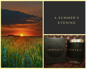 """Summer's evening"" soy wax candle - Brown and Co. Durham"