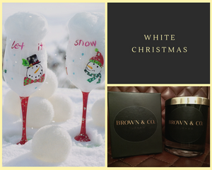 """White Christmas"" soy wax candle - Brown and Co. Durham"