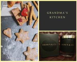 """Grandma's Kitchen"" soy wax candle - Brown and Co. Durham"