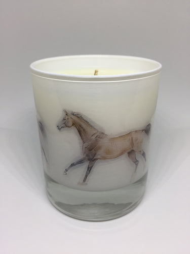 """The Cantering Horse"" soy wax candle - Brown and Co. Durham"
