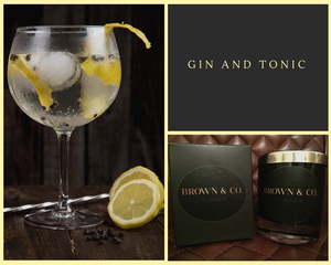 """Gin and tonic"" soy wax candle - Brown and Co. Durham"