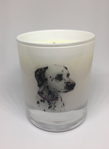 Dalmatian lovers candle