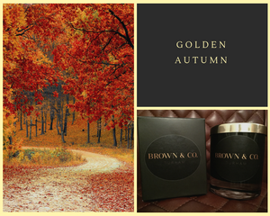 """Golden Autumn"" soy wax candle - Brown and Co. Durham"