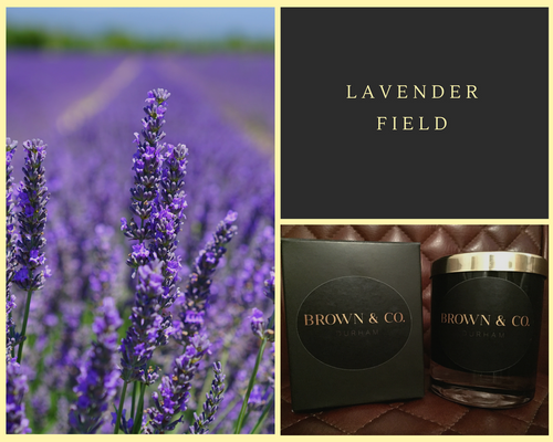 """Lavender field"" soy wax candle - Brown and Co. Durham"