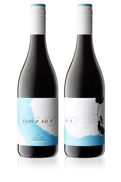 Cloud No.9 Marlborough Pinot Noir 2015 - case buys only [12] $30 per bottle