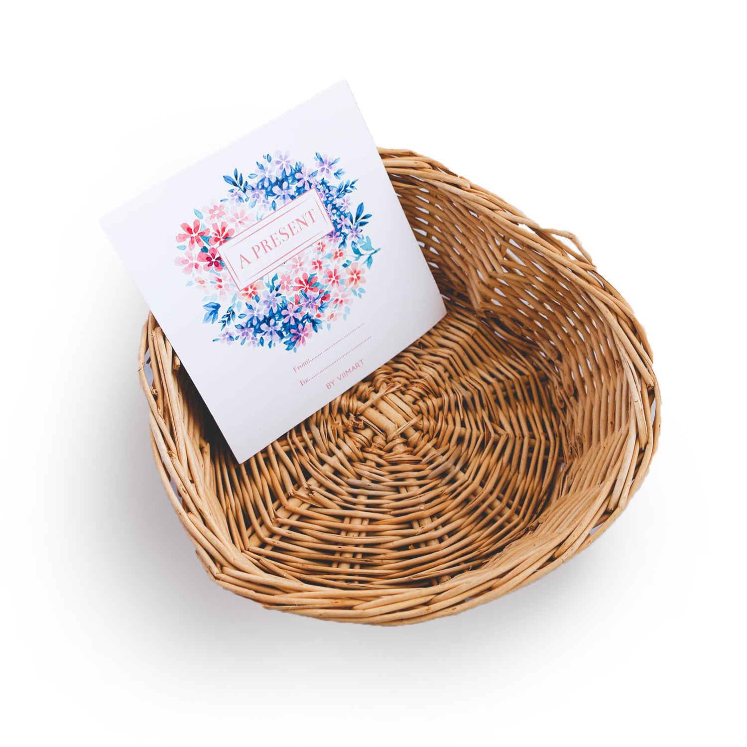 Small Basket + Wrapping + Greeting card (Best for 2 products)