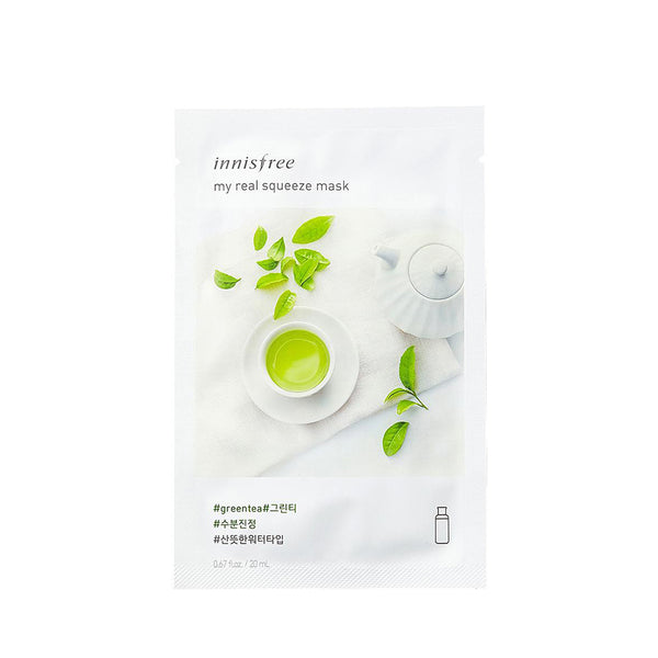 INNISFREE It's Real Squeeze Mask - Green Tea 20ml