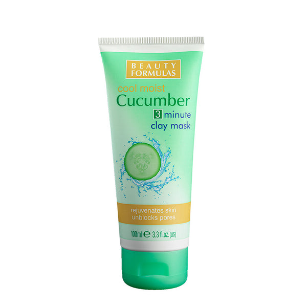 BEAUTY FORMULAS Cucumber 3 Minute Clay Mask 100ml