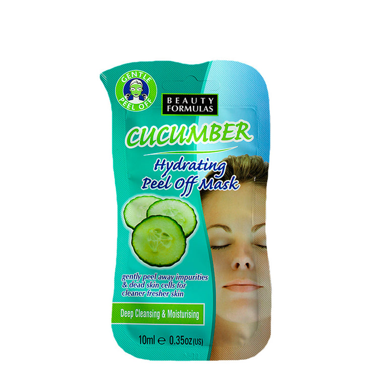 BEAUTY FORMULAS Cucumber Hydrating Peel Off Mask - 5 Pcs