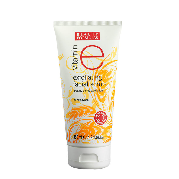 BEAUTY FORMULAS Vitamin E Exfoliating Facial Scrub 150ml