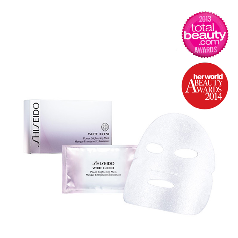 SHISEIDO White Lucent Power Brightening Mask - 6 Sheets