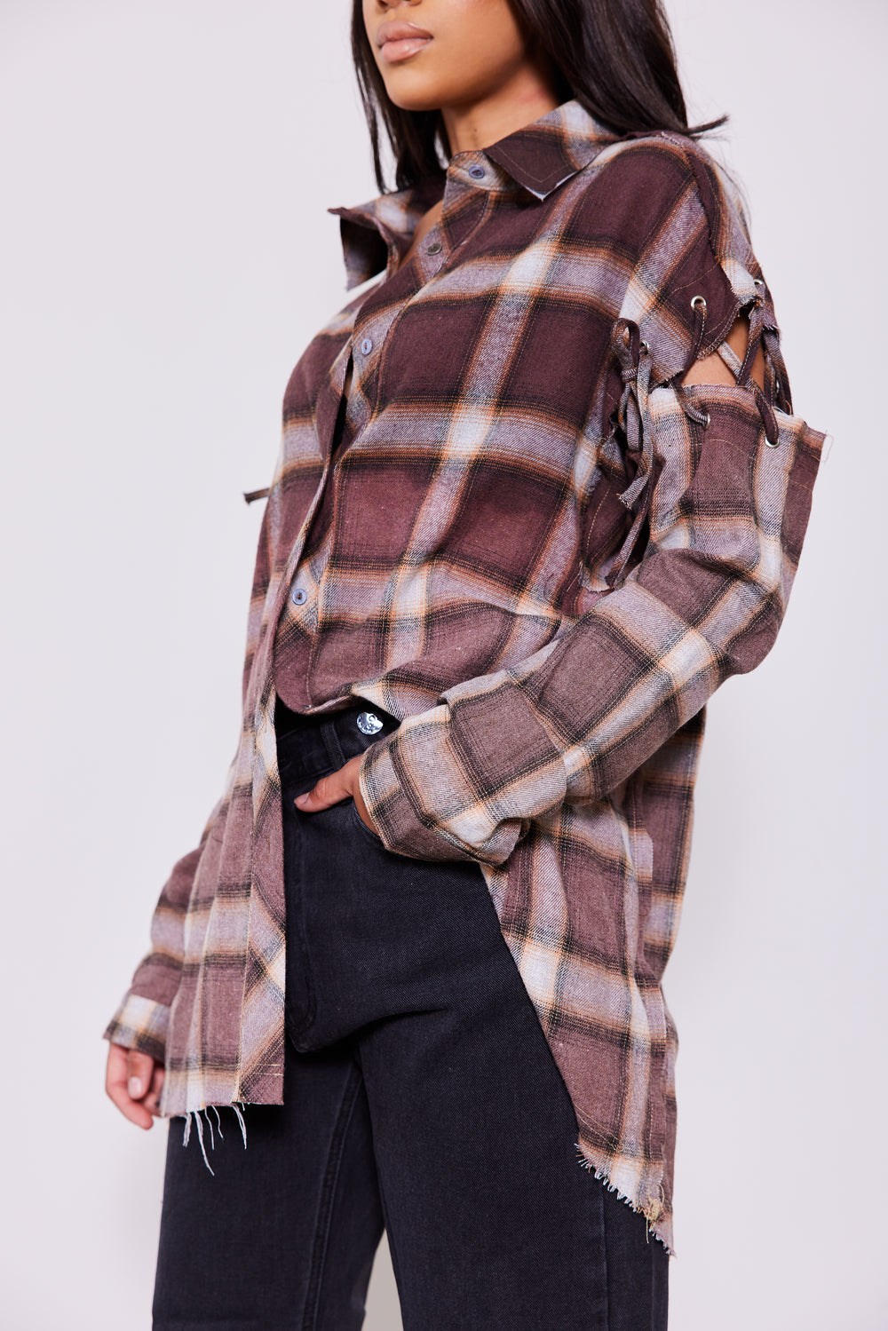In Check | Oversized Plaid Top